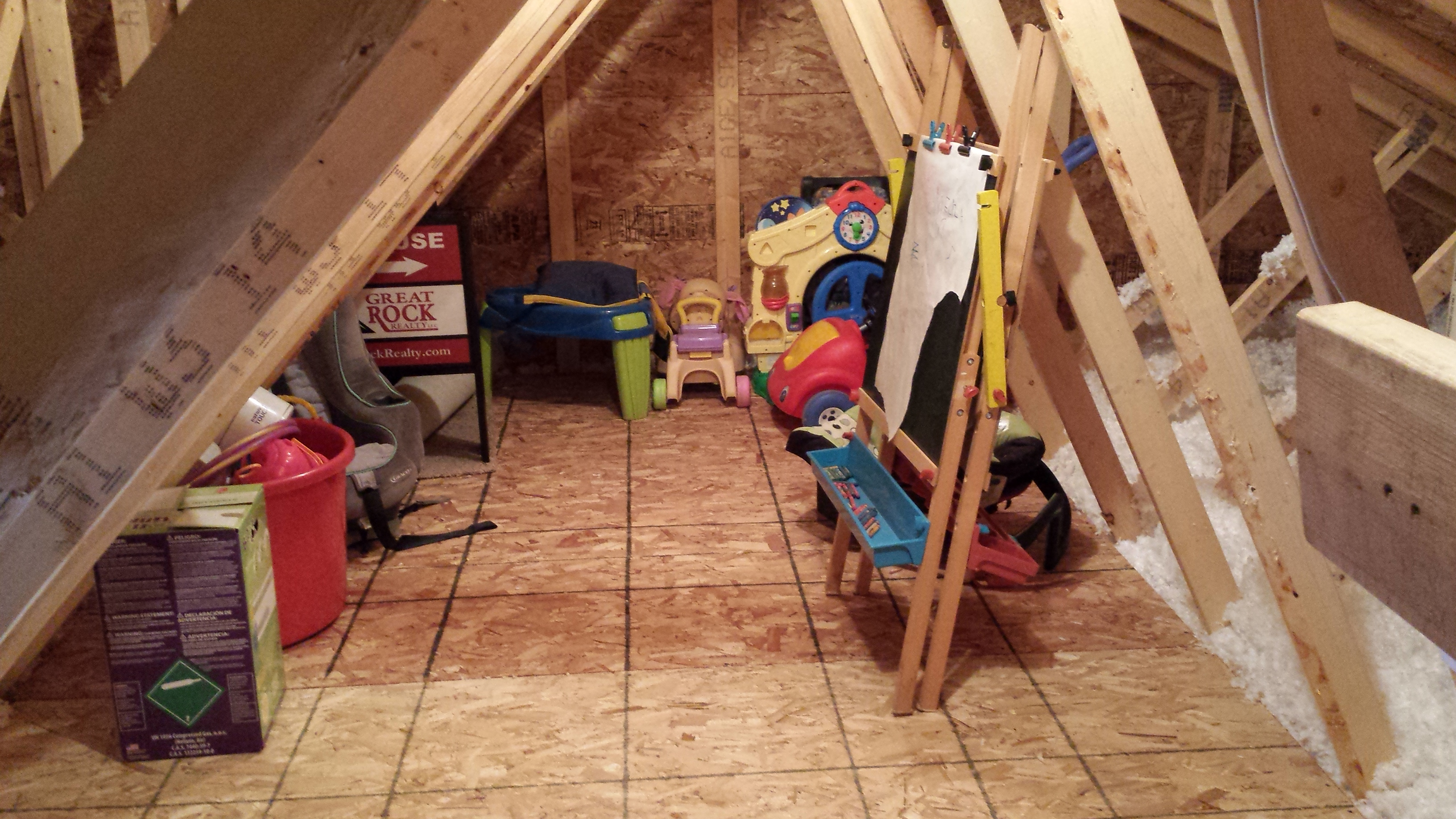 Declutter your home with added storage keith and kinsey for Garage attic storage